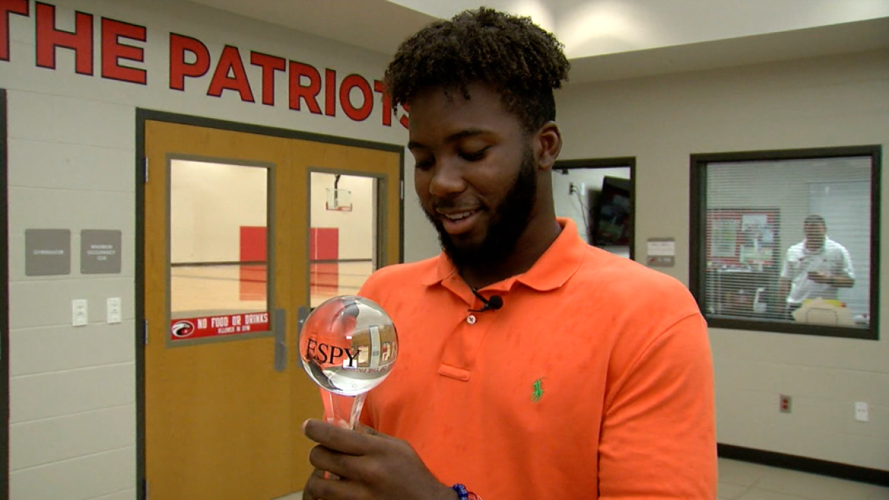 N'Jhari Jackson wins ESPY Award