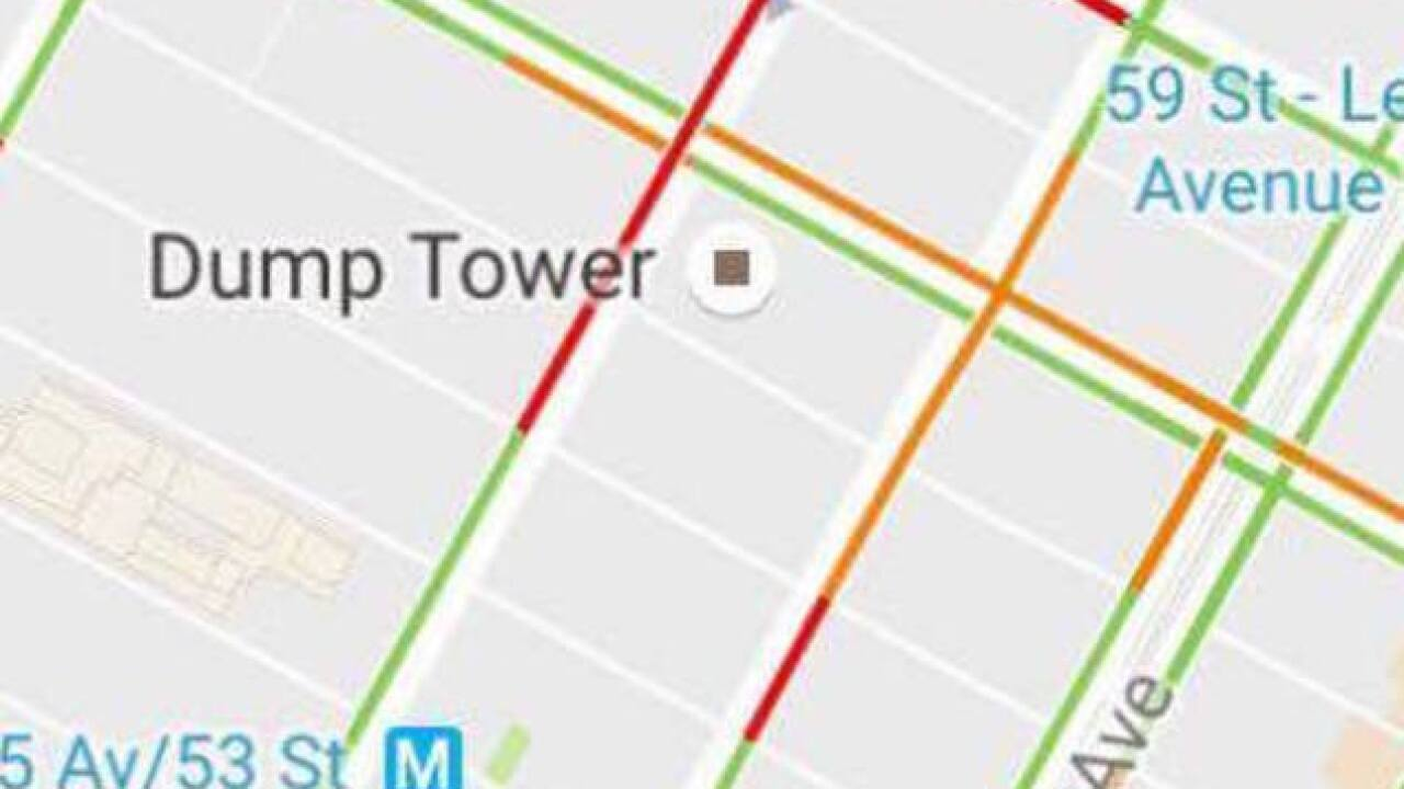 Trump Tower Nyc Map.Trump Tower Becomes Dump Tower On Google Maps