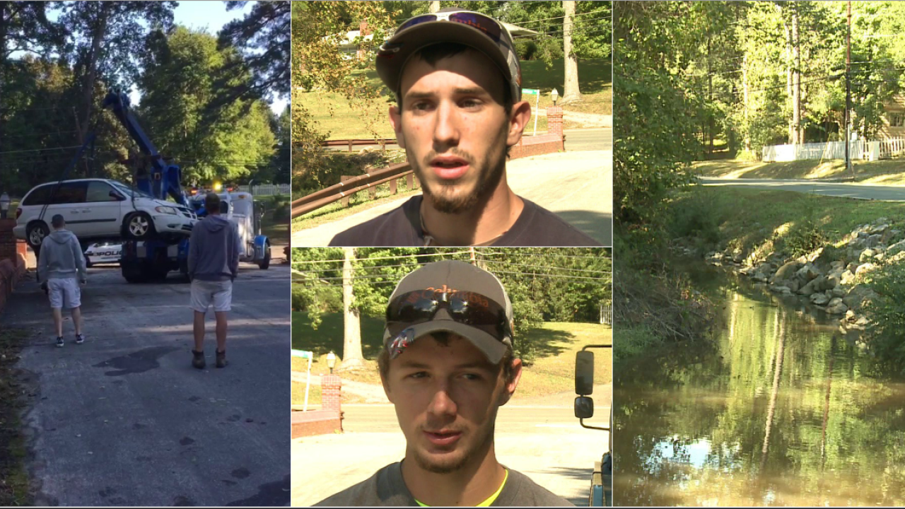 Brothers save woman, dogs trapped in sinking minivan: 'We got to get the ladyout'