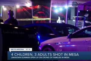 Victim speaks after 4 kids, 3 adults were shot near Dobson and Guadalupe roads, suspect sought