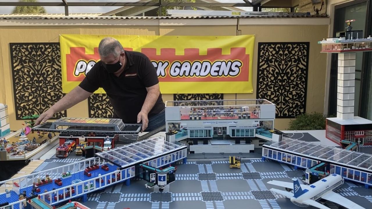 Matthew Perlman puts together 'Palm Brick Gardens' Lego city