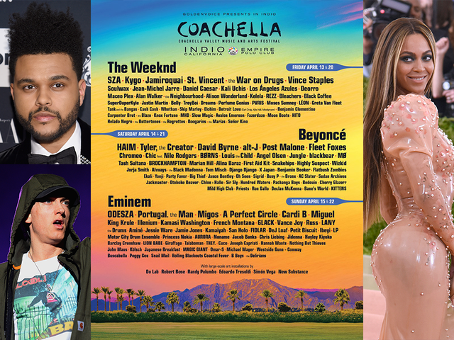 Coachella 2018: Beyoncé, Eminem, The Weeknd to headline