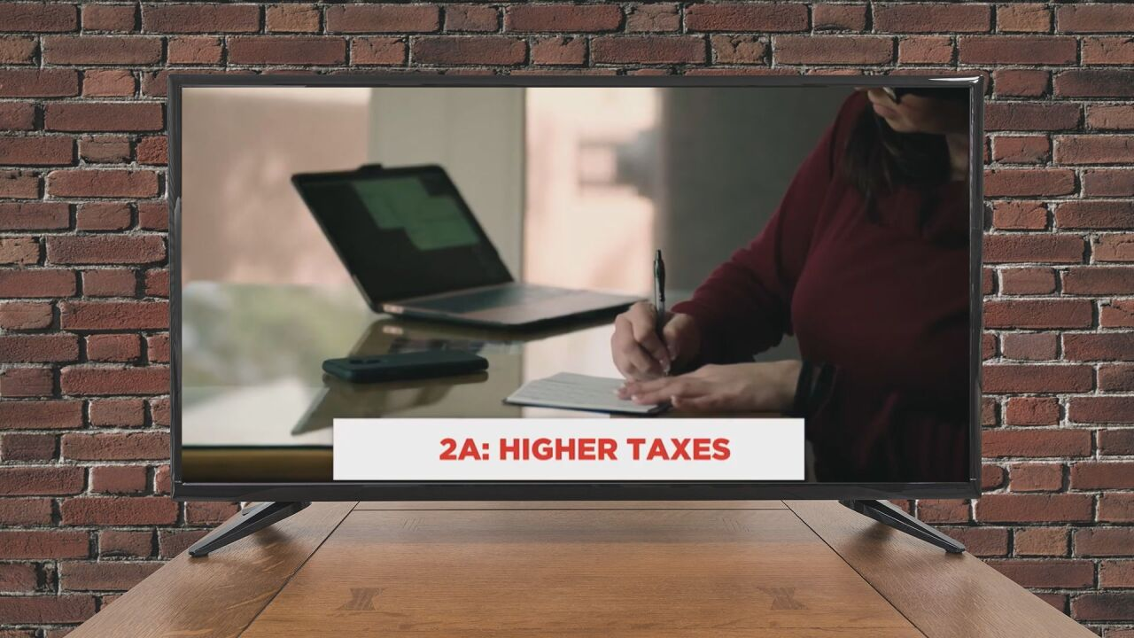 AD: Higher taxes