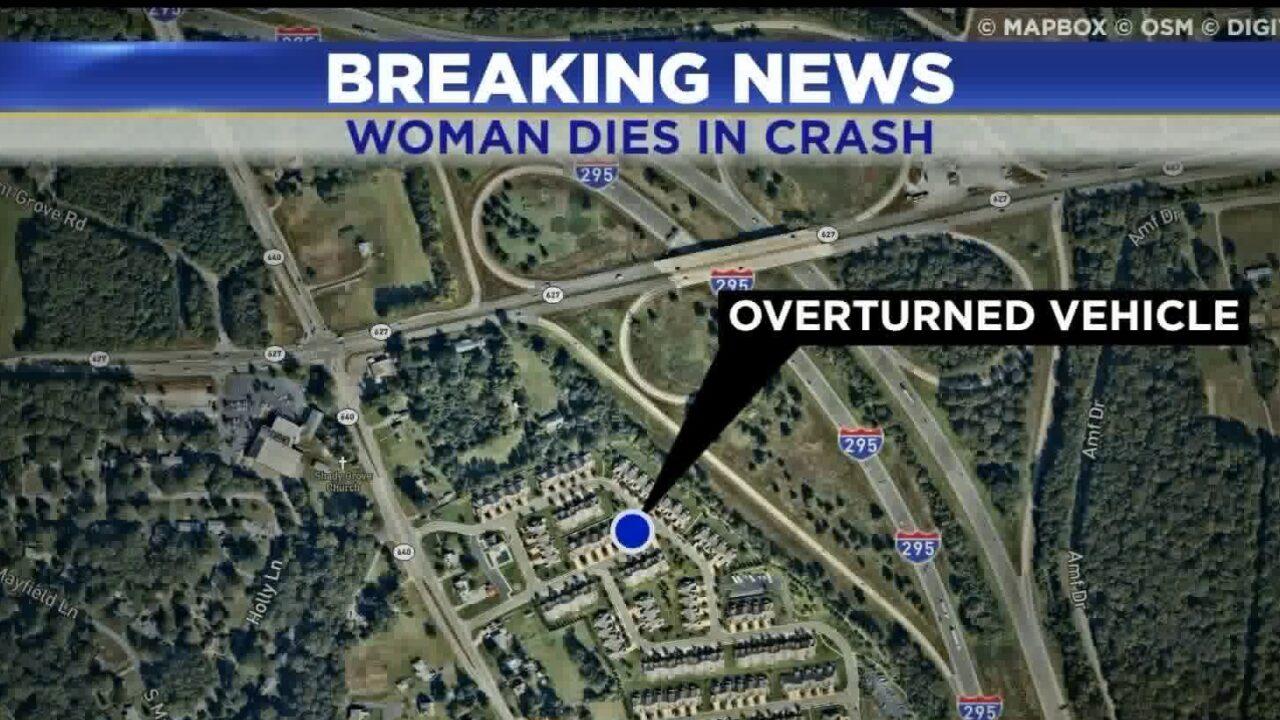 Woman killed in I-295 crash inHanover