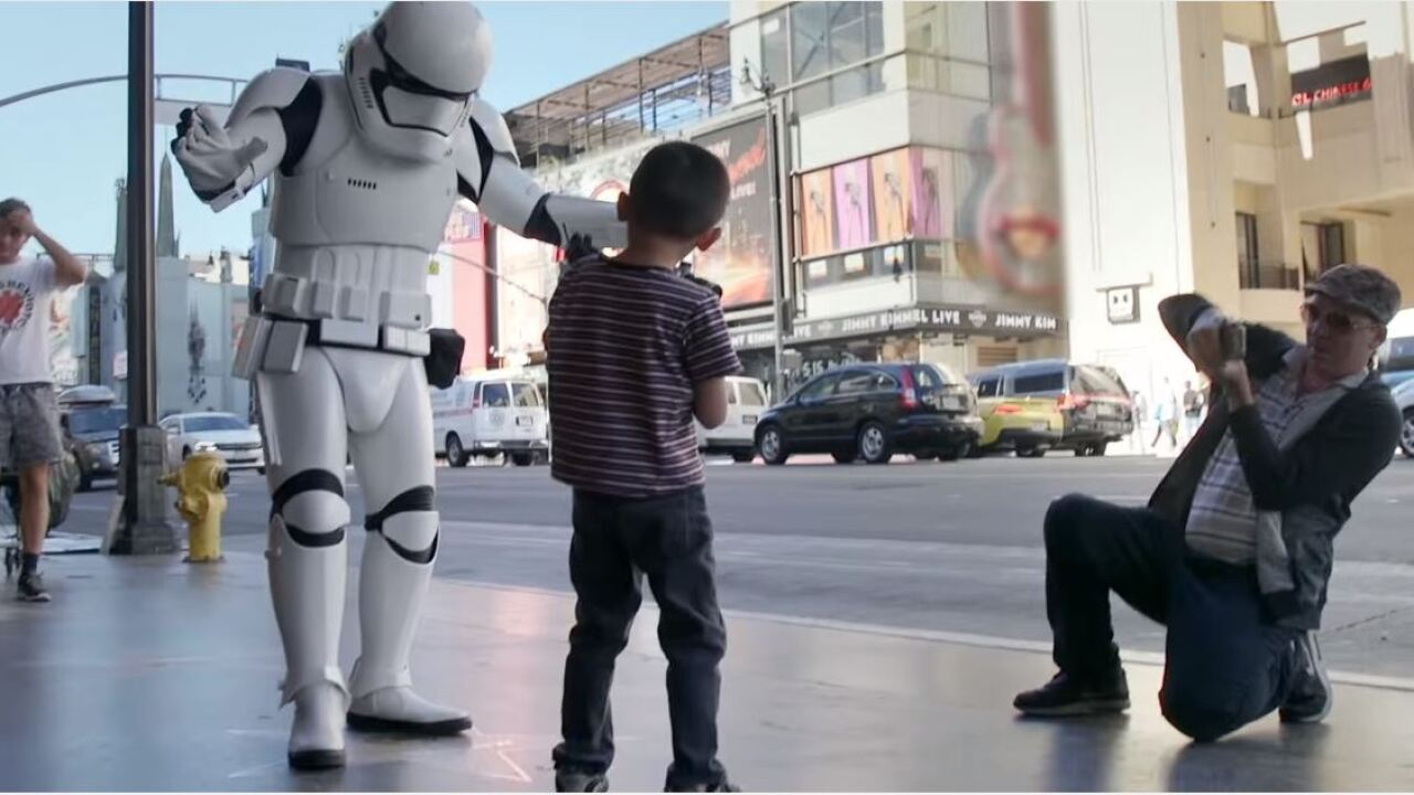 'Aren't you a little short for a stormtrooper?' Mark Hamill goes undercover for charity