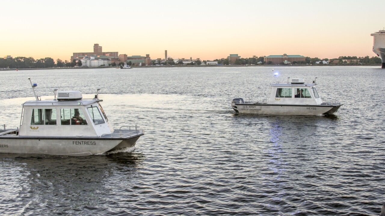 Army Corps of Engineers christen two new vessels for Norfolk fleet