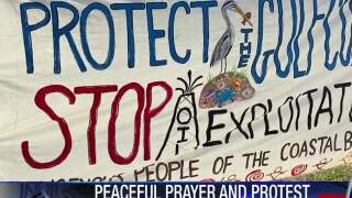Peaceful protest hosted in Ingleside against oil export terminal