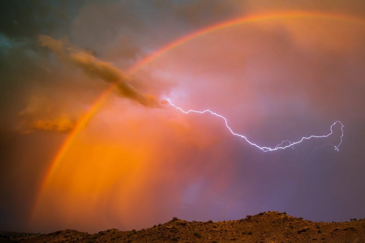 South Mountain Lightning Bolt and Rainbow