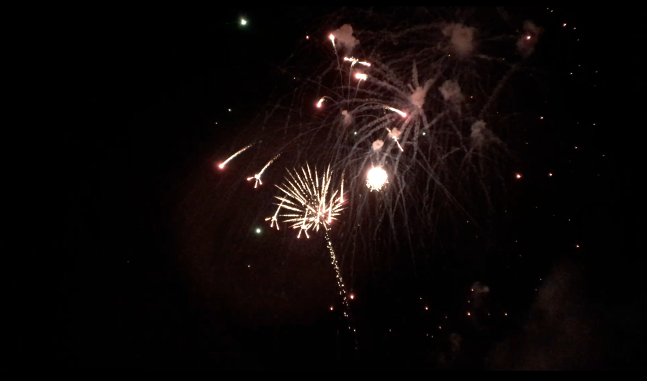 Fireworks in Delta Township