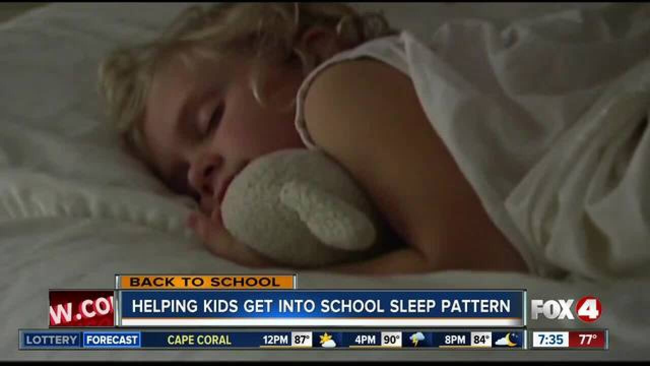 How to help your kids get back into a school sleep pattern