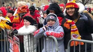 Children at super bowl parade