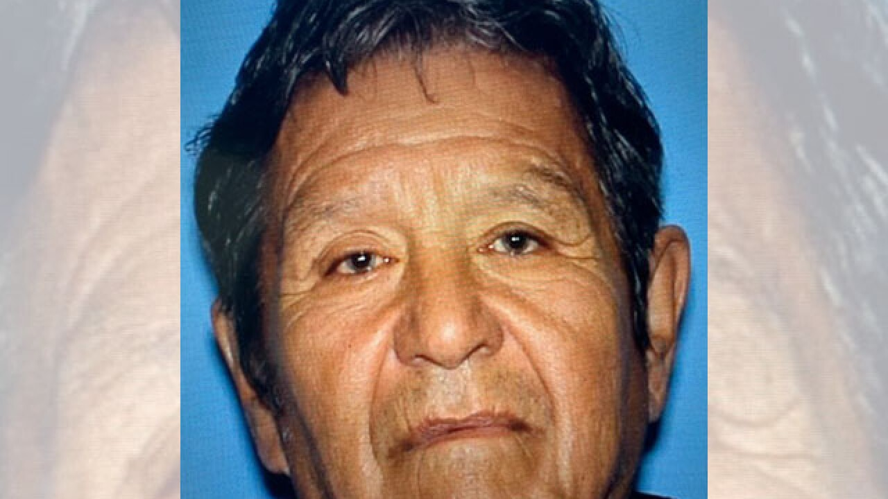 Police say 75-year-old Manuel Rodriguez Cortes was last seen near Escalante and Kolb early Wednesday morning. Photo via TPD.