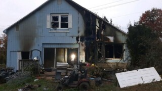 Heat lamp inside chicken coop causes house fire in Westminister.jpg