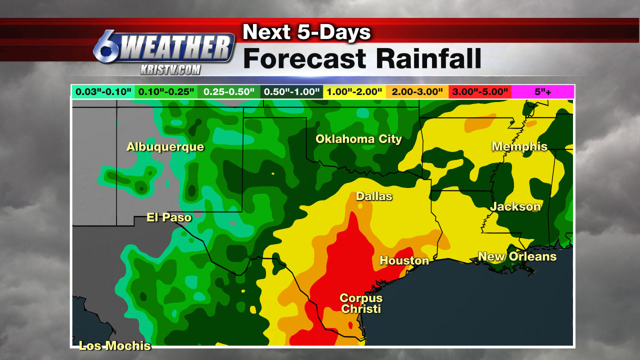 6WEATHER 5-Day Forecast Rainfall