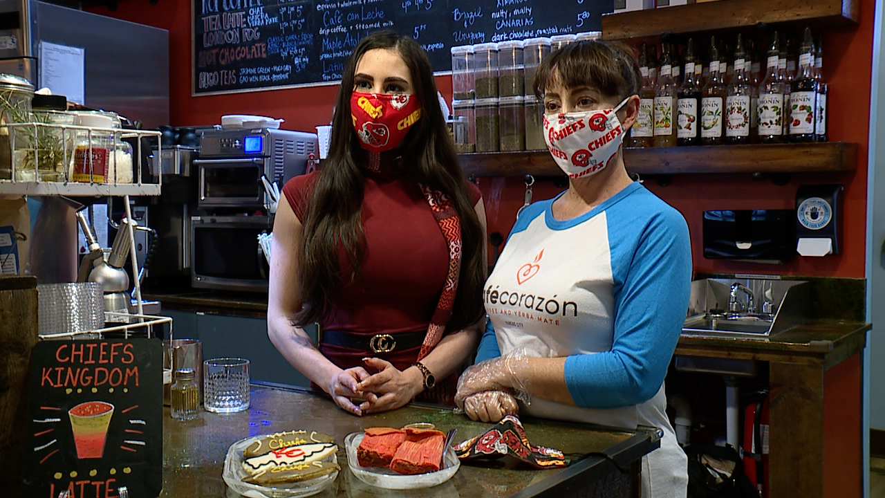 Café Corazón in the West Plaza is putting a Latin twist to Chiefs-mania.