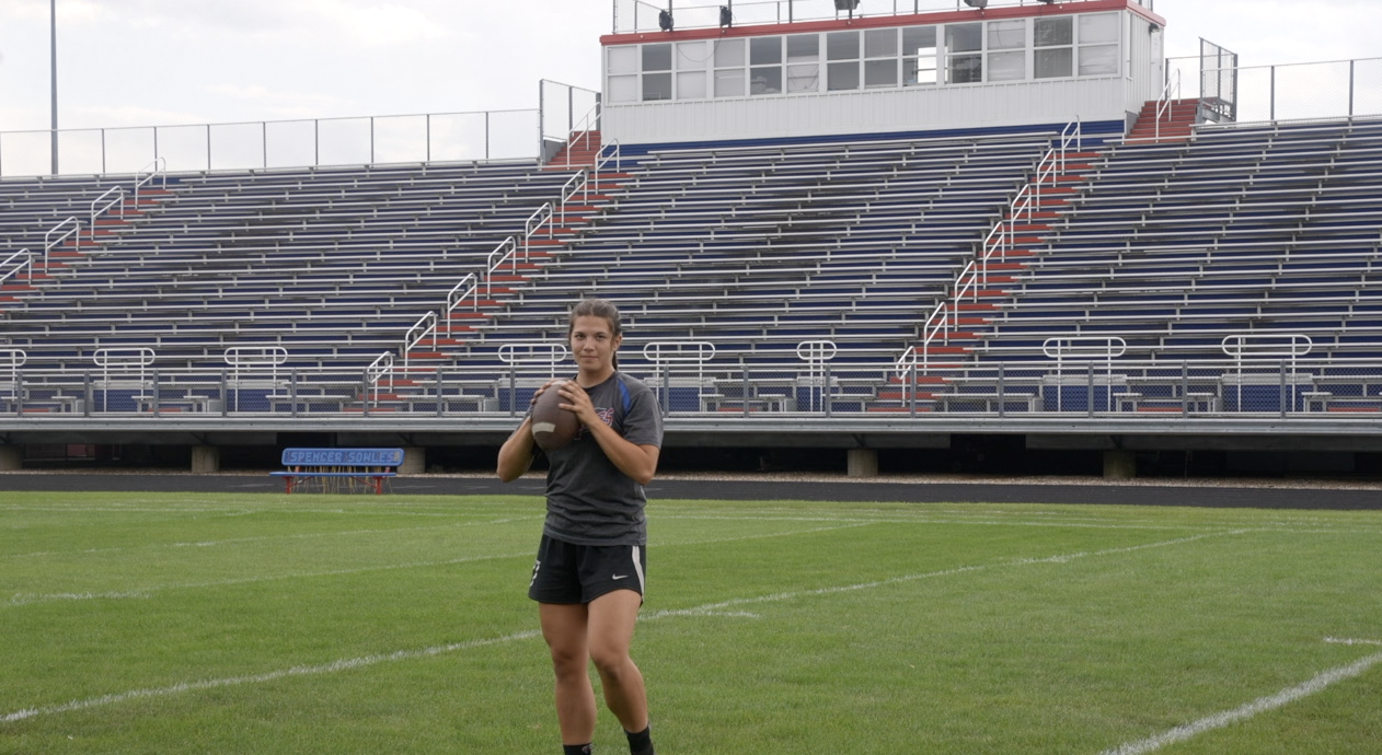 Natalia Pluff hopes to get a scholarship for football
