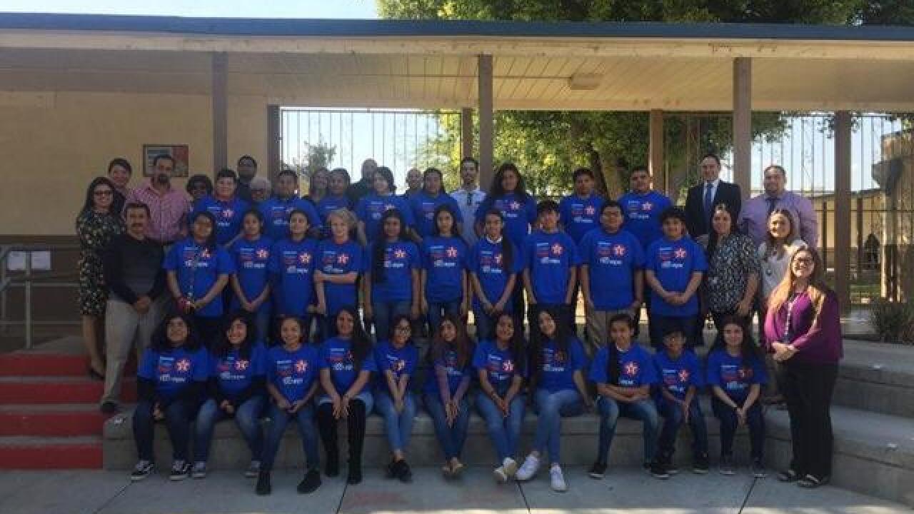 Arvin middle school receives school supplies