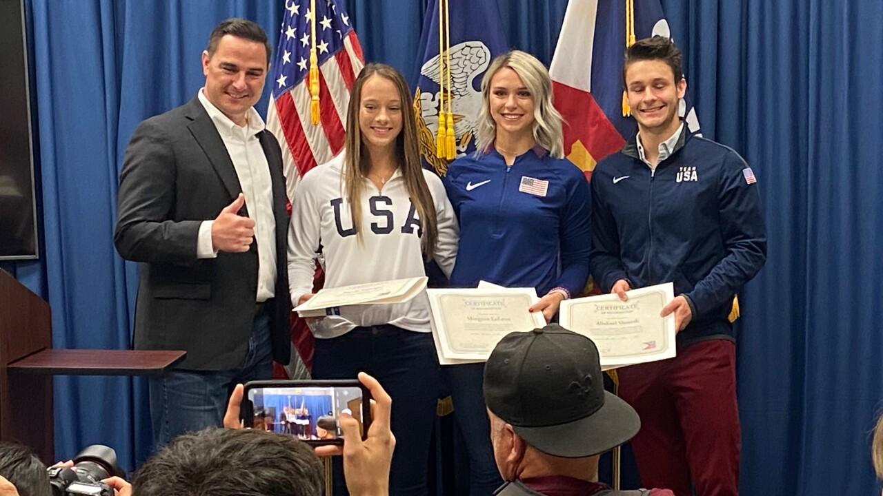 Olympic athletes get key to city