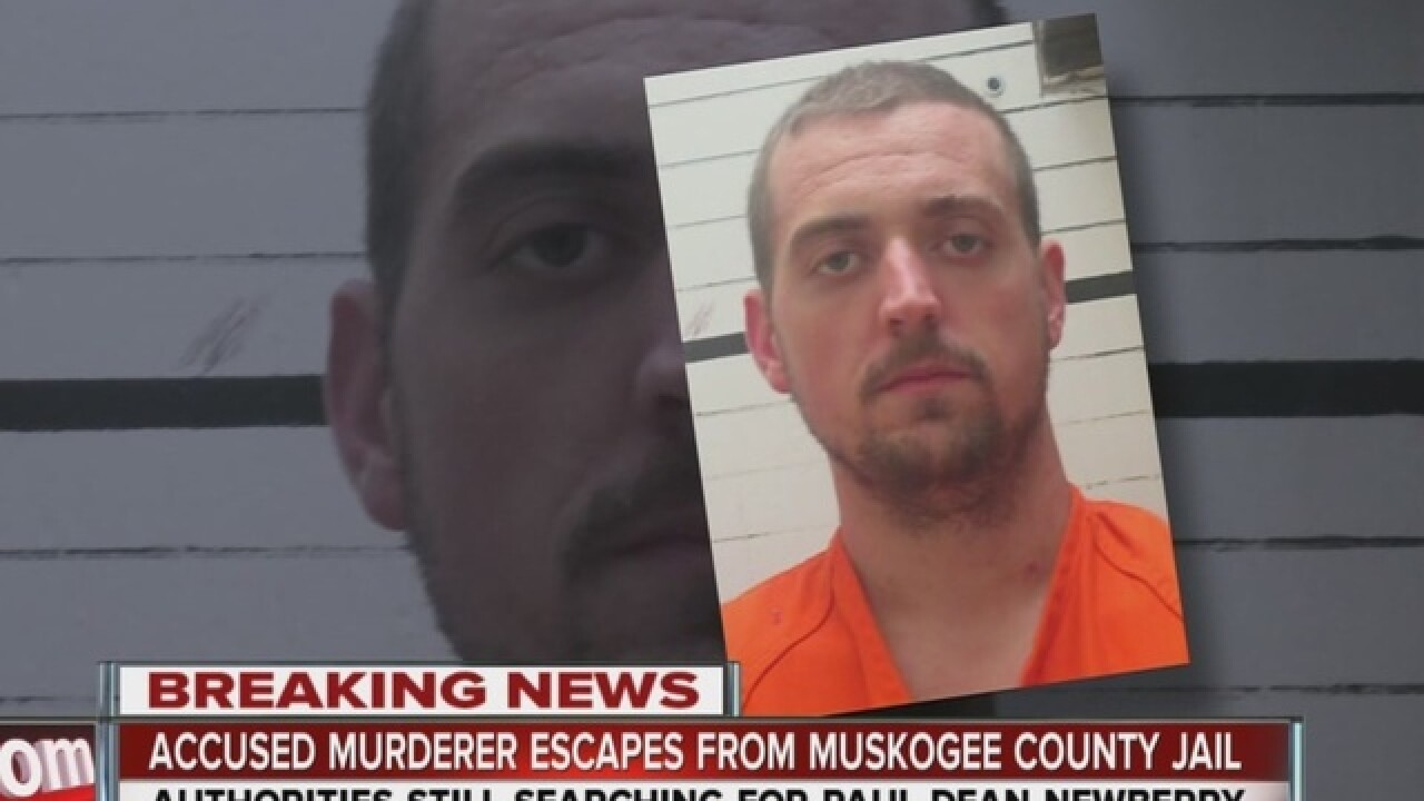 Search conts for Muskogee Co. escapee