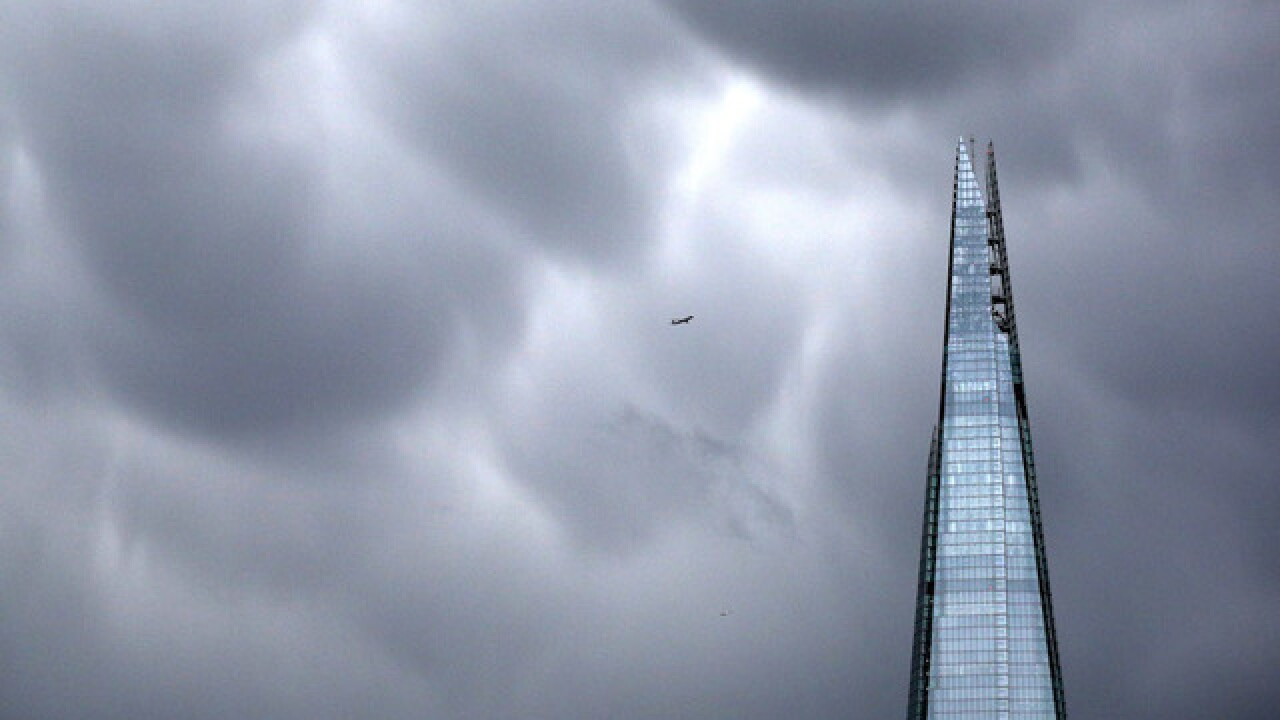 Drone nearly hit plane over London's Shard skyscraper