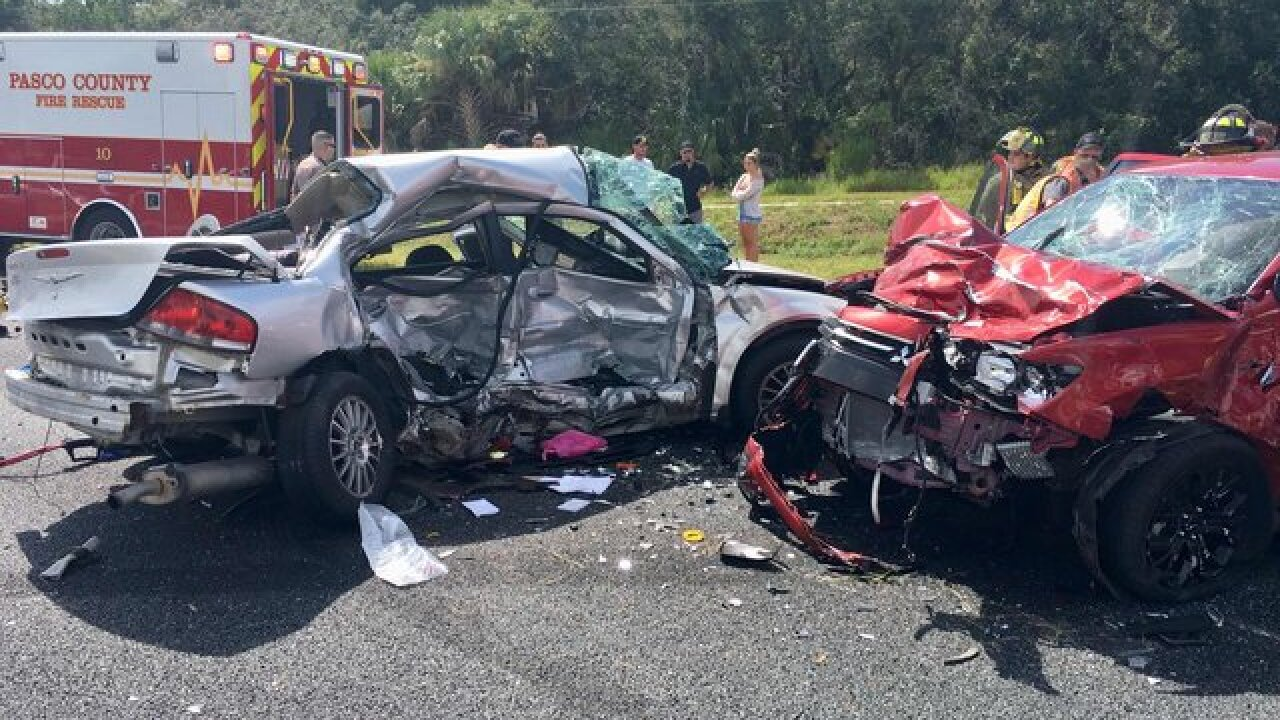 One dead following three car collision on US-19