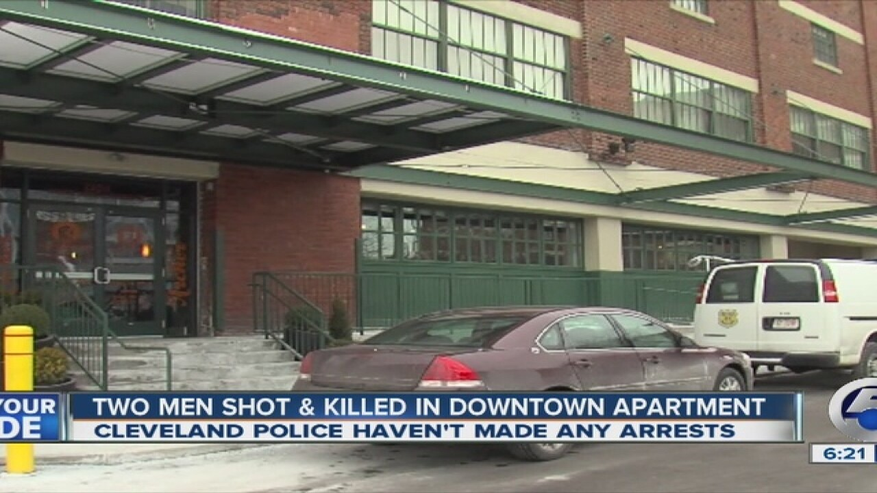 Two shot at Cleveland downtown apartment