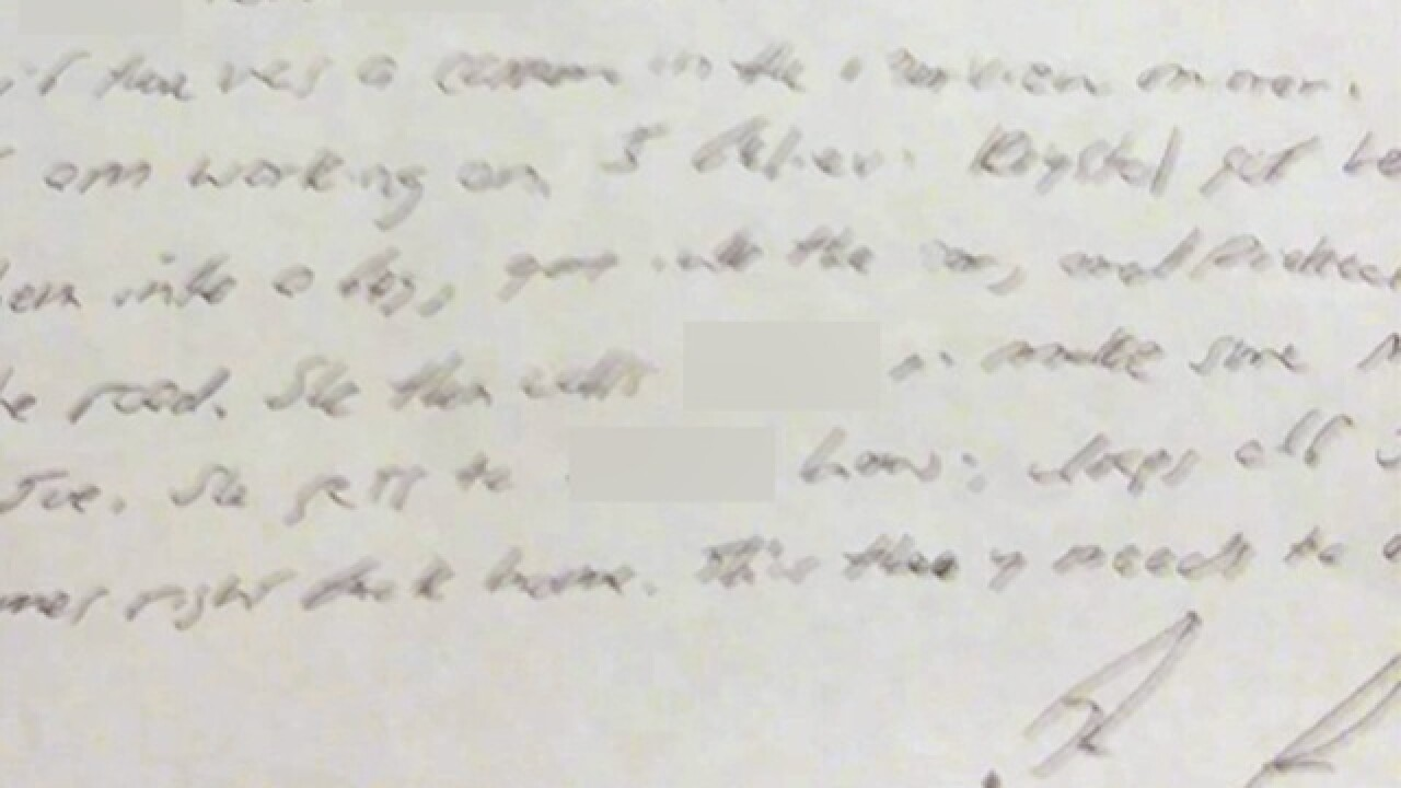 "Letter from Joe Clyde's Father: ""If we can get Krystal to confess...we can win this case."""