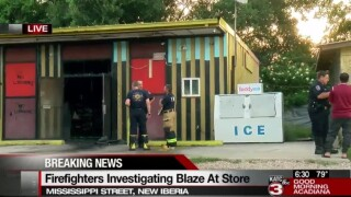 Officials: Fire destroys store on Mississippi Street in New Iberia
