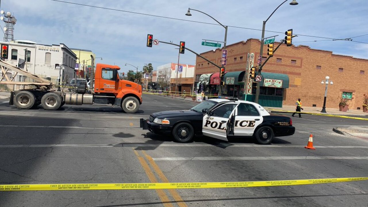 Tucson police say a bicyclist was critically injured near Broadway and Sixth Avenue Thursday.