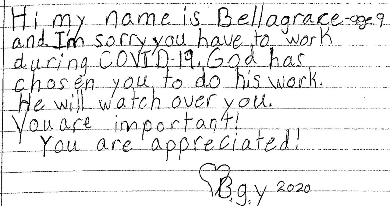 Bella Grace medical staff letter