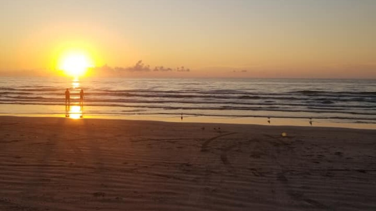 Whitecap Beach Sunrise - Photo By: FB Coastal Bend Weather Watcher Rolando Delarosa