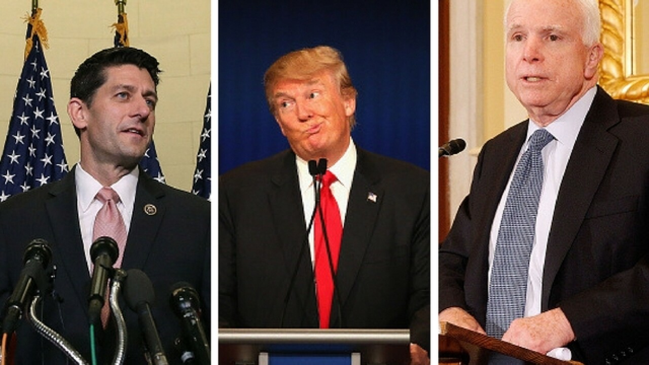 Trump won't support Paul Ryan, John McCain in upcoming primaries