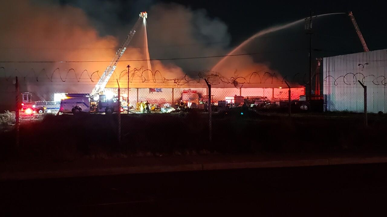 Fire in East Bakersfield