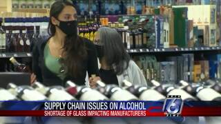 Supply chain issues are affecting a Texas-based liquor and wine company