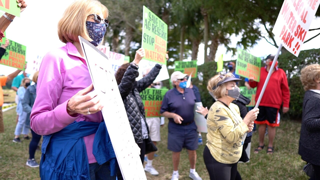 A community in unincorporated Boynton Beach is fighting to stop a water ski park from being built.
