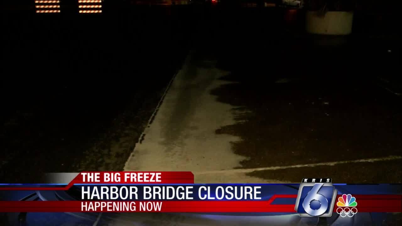 Icy roads across Coastal Bend