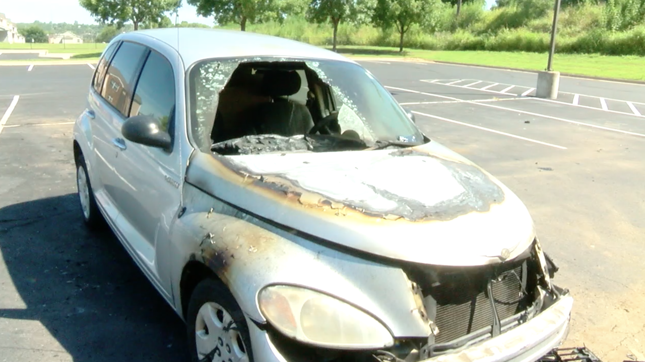 Burned Car at Country Club Garden