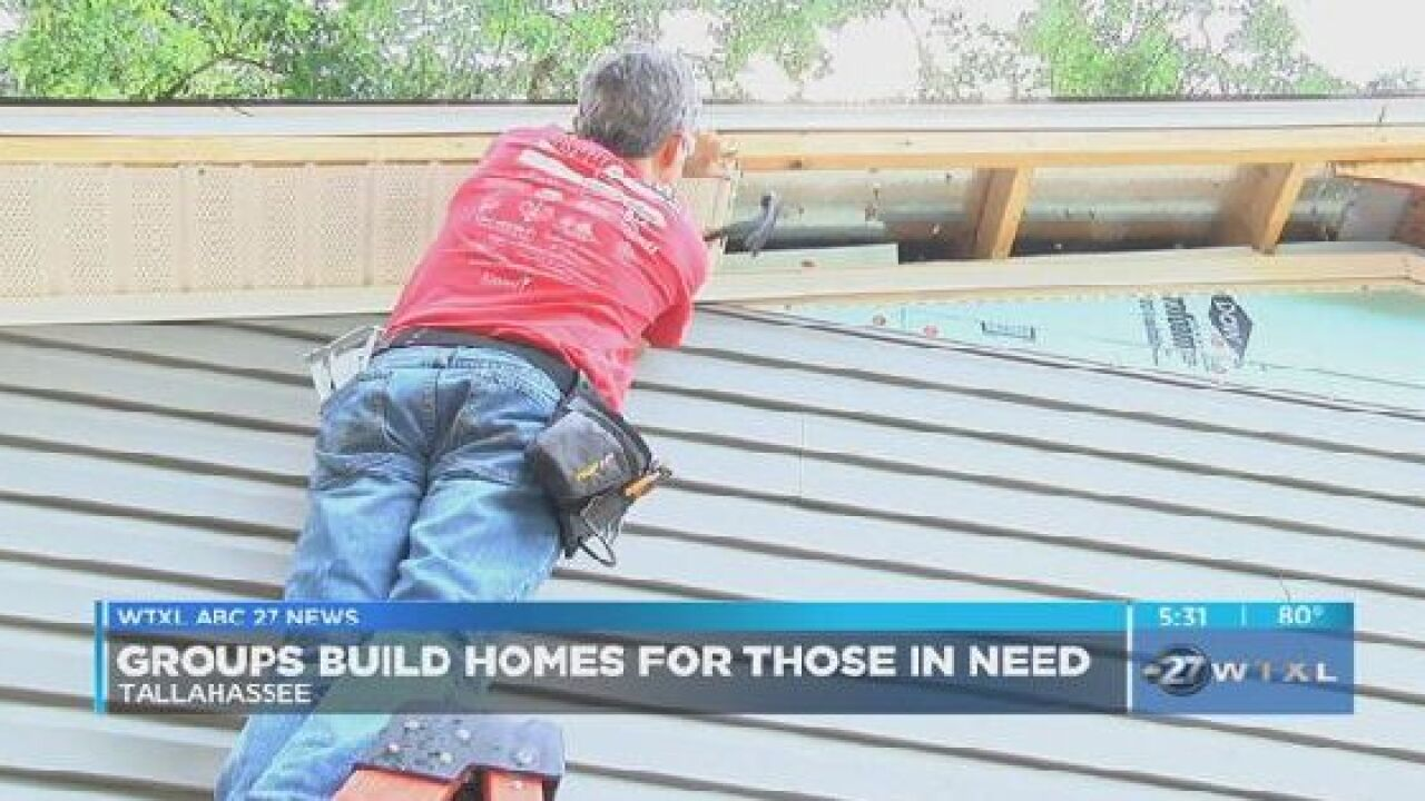 Groups build homes for those in need in Tallahassee
