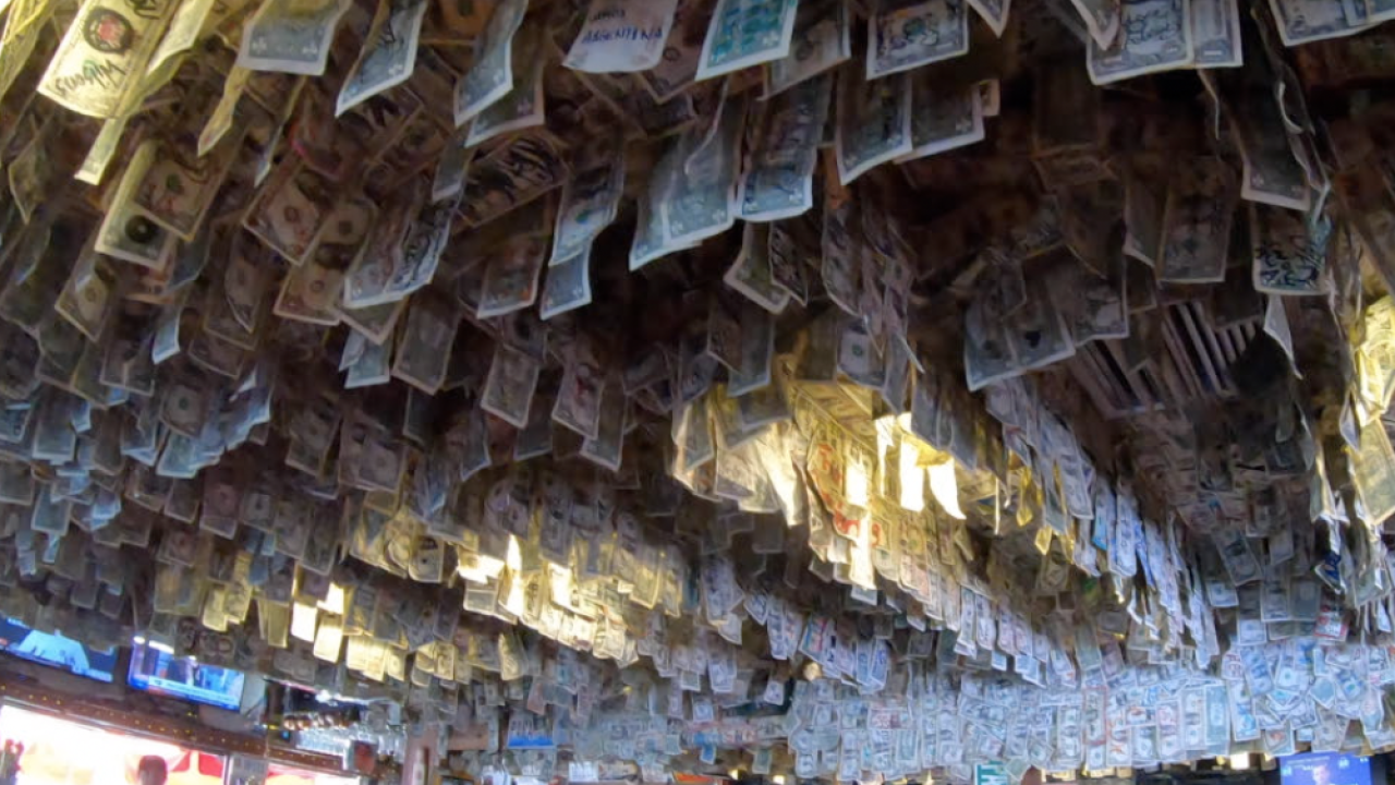 A Florida bar pulled the infamous dollar bills off their walls to donate to Dorian relief — it was $14,000