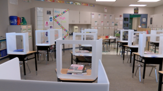 Lawrenceburg primary school classroom coronavirus