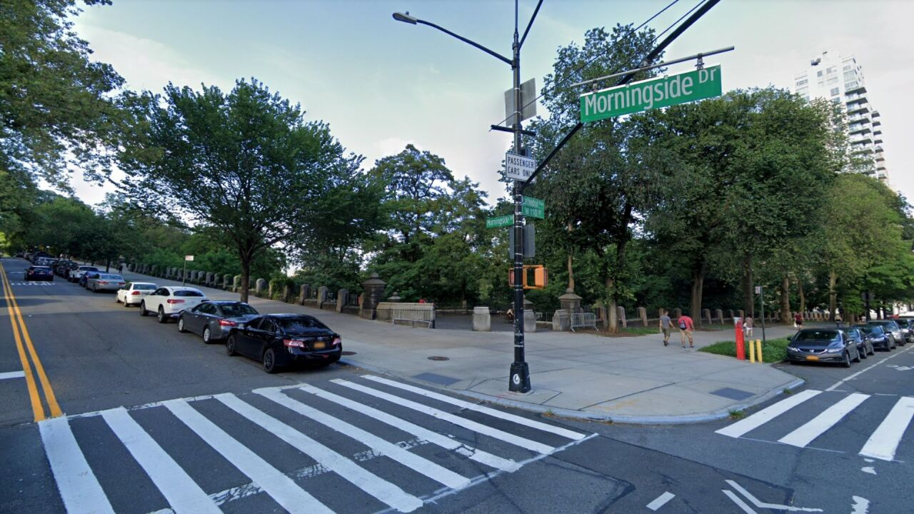 West 110th Street and Morningside Drive in Morningside Heights, Manhattan