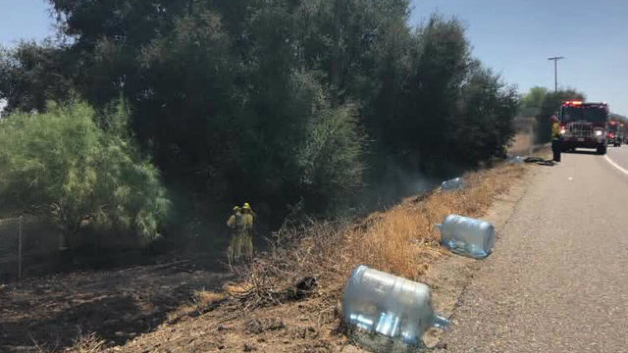 Man arrested, accused of starting fire off SR-67 in Lakeside