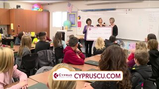 Cyprus Credit Union surprises the 'Teacher of the Month'