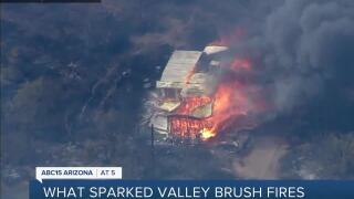 Last May's Valley Brush Fires: Three human-caused, state won't seek repercussions