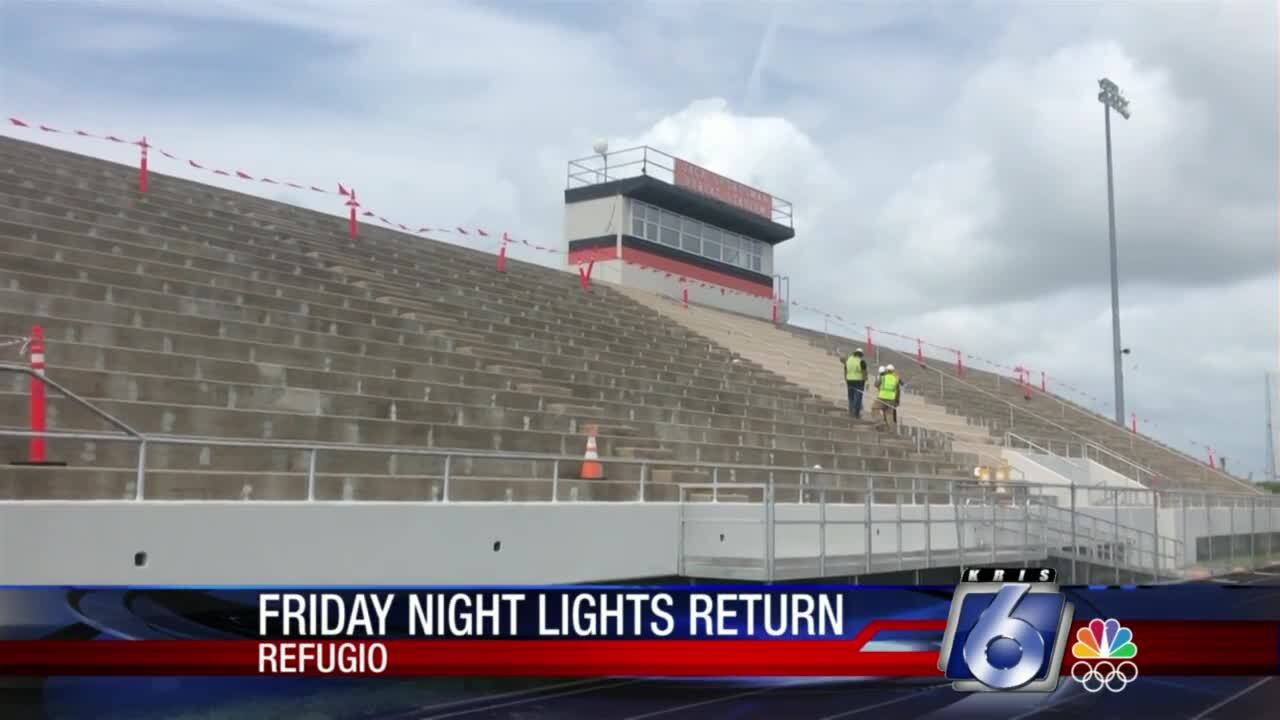 Renovations for Refugio's stadium should be done in time for football season