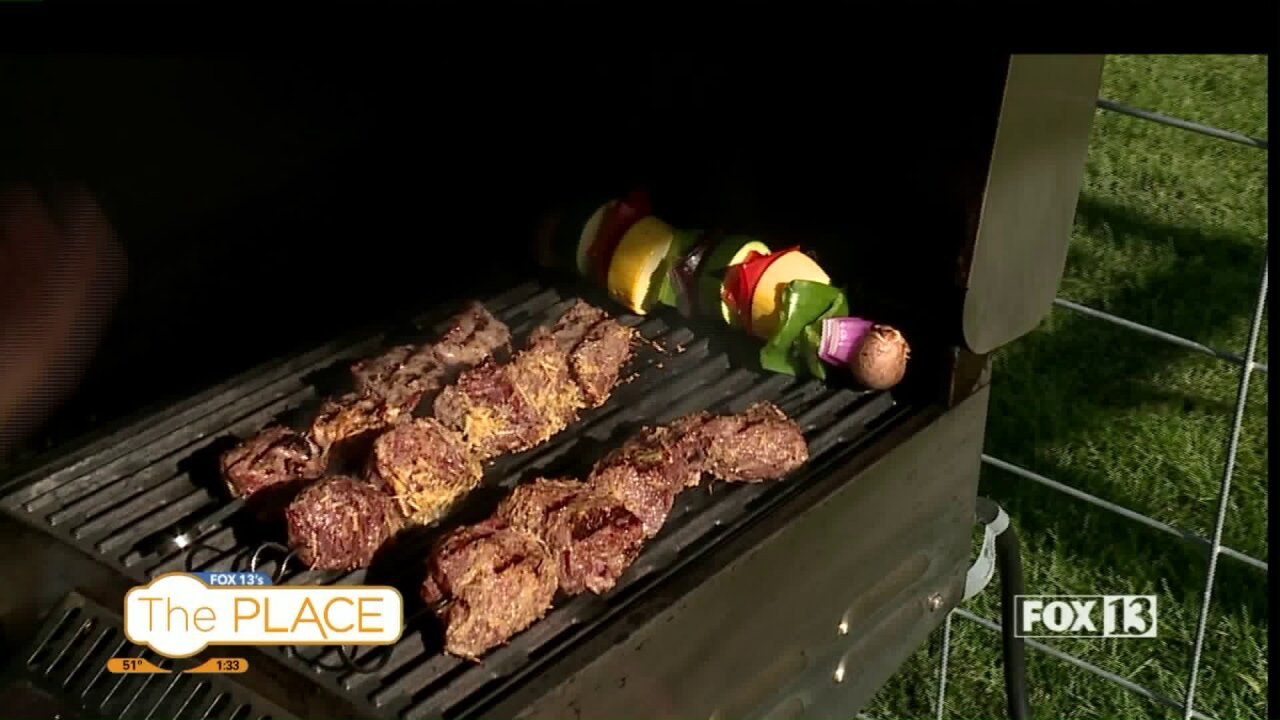 How to make kabobs with tri-tip, including an amazing life hack!