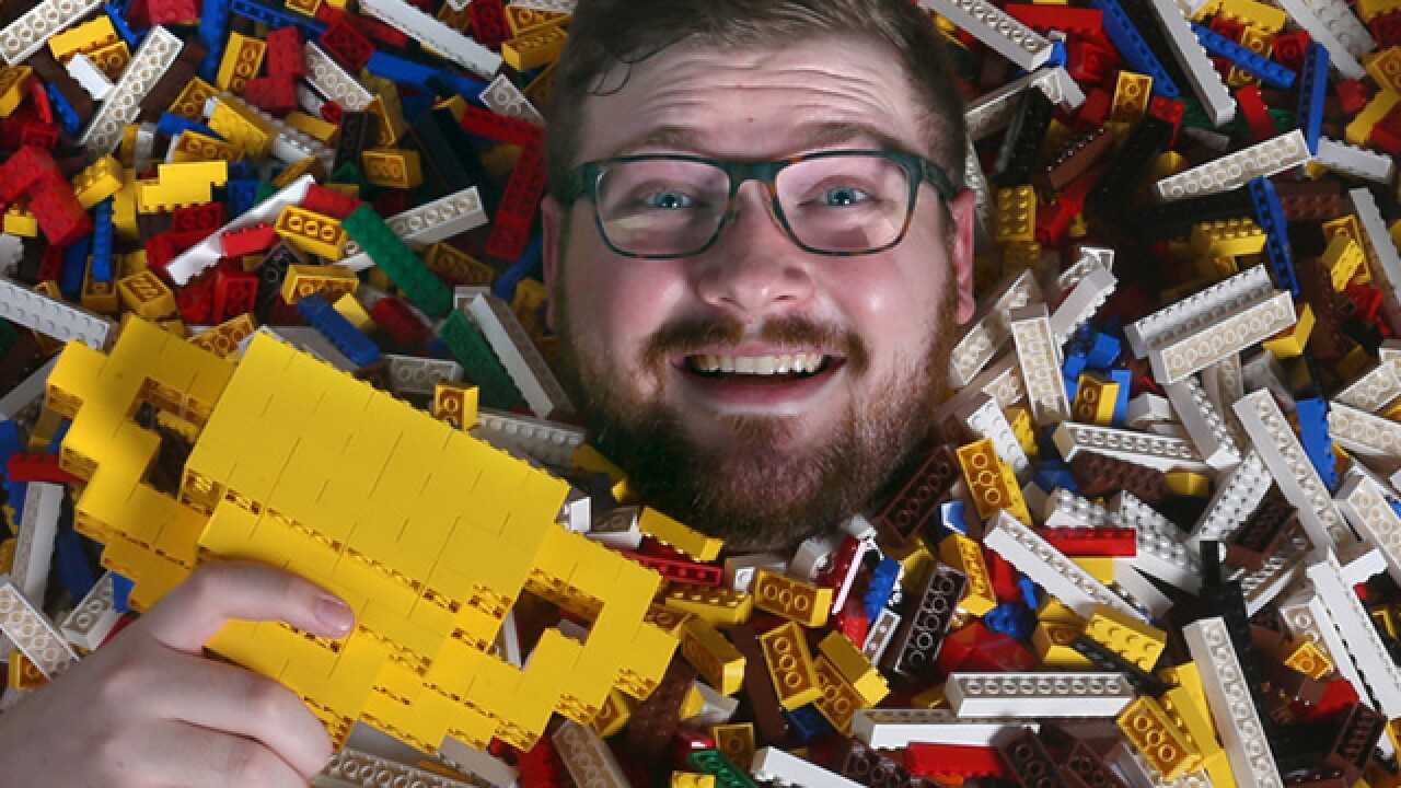 College student wins job building Lego models at Ohio mall