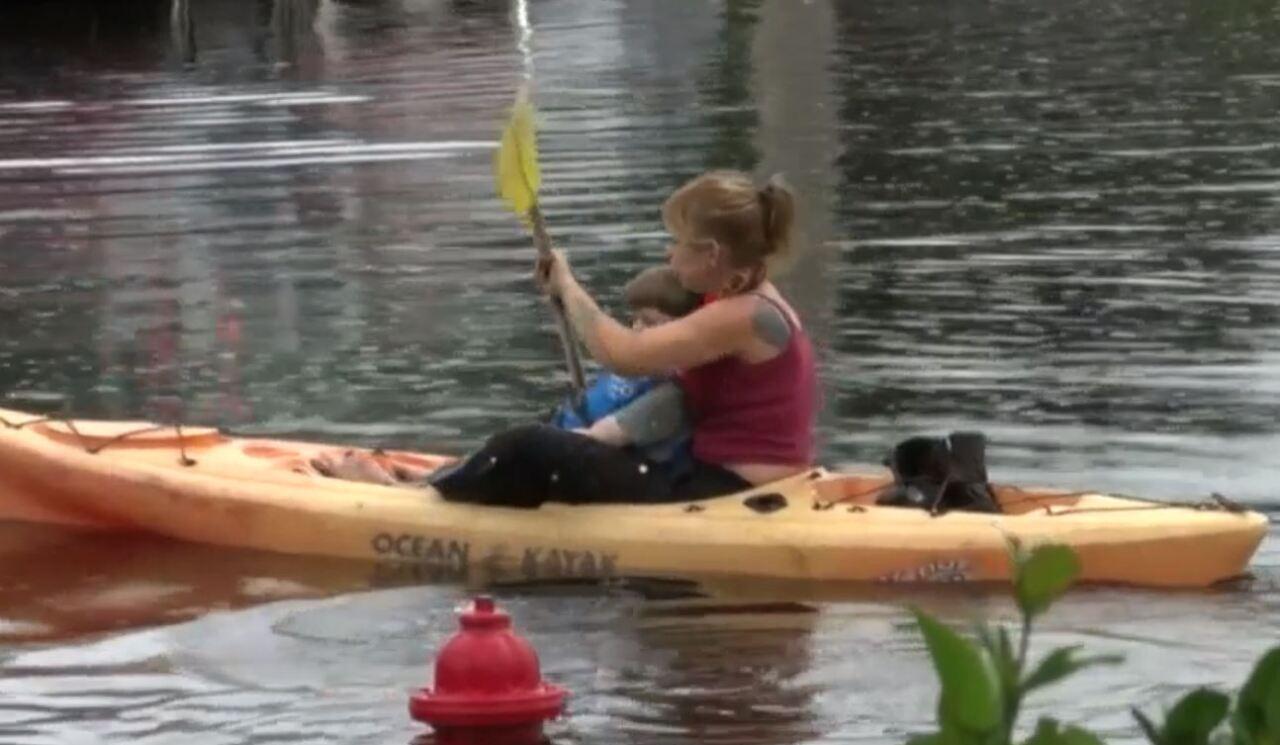Kayaking in flooding waters.JPG
