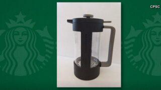 Starbucks recalling coffee presses