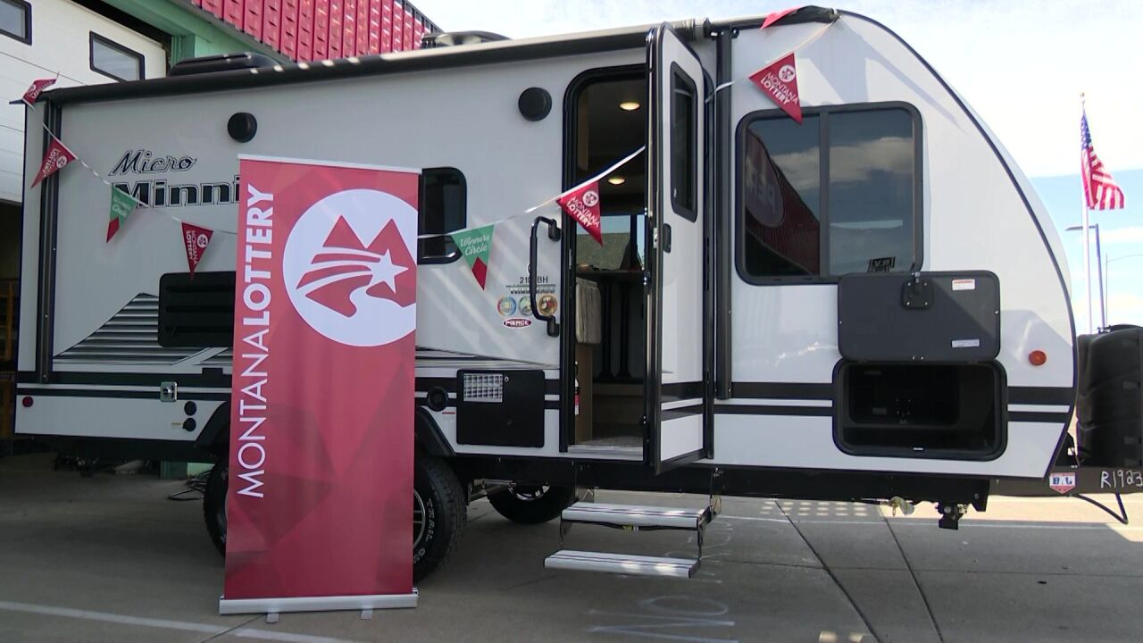 Montana Lottery winner picks up new trailer in Great Falls
